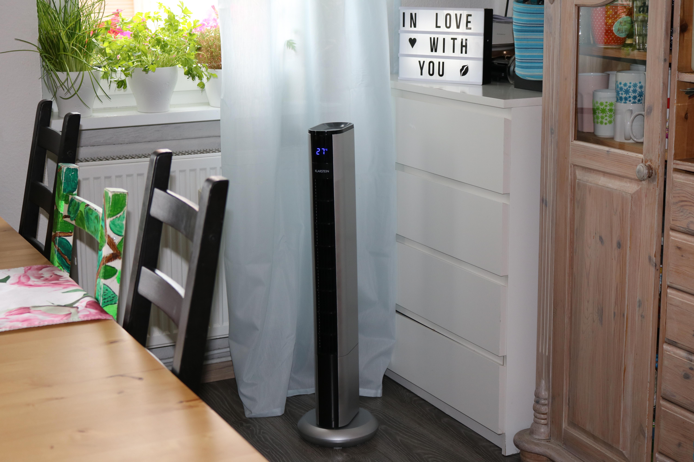 der klarstein skyscraper 3g s ulenventilator mit fernbedienung im test klarstein summer. Black Bedroom Furniture Sets. Home Design Ideas