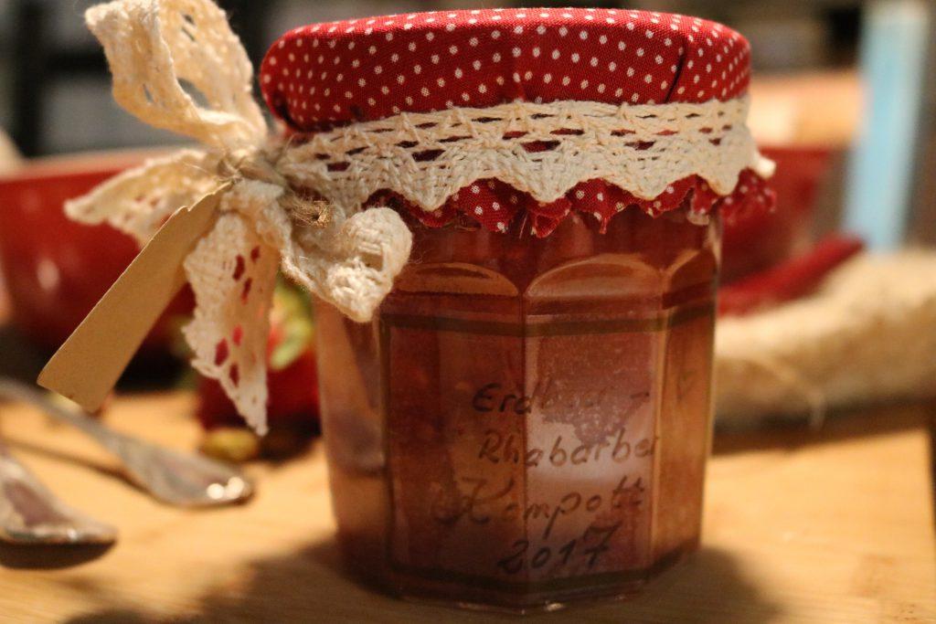 Erdbeer-Rhabarber-Kompott
