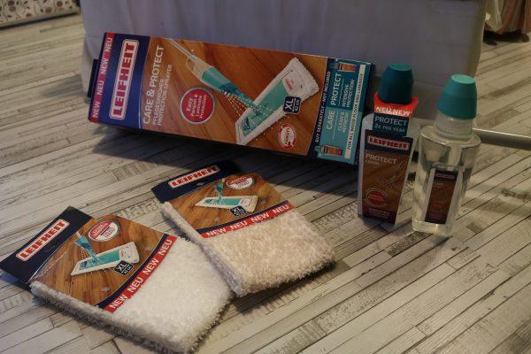 leifheit pflegespr her care protect laminat und parkett spielend leicht pflegen leifheit. Black Bedroom Furniture Sets. Home Design Ideas