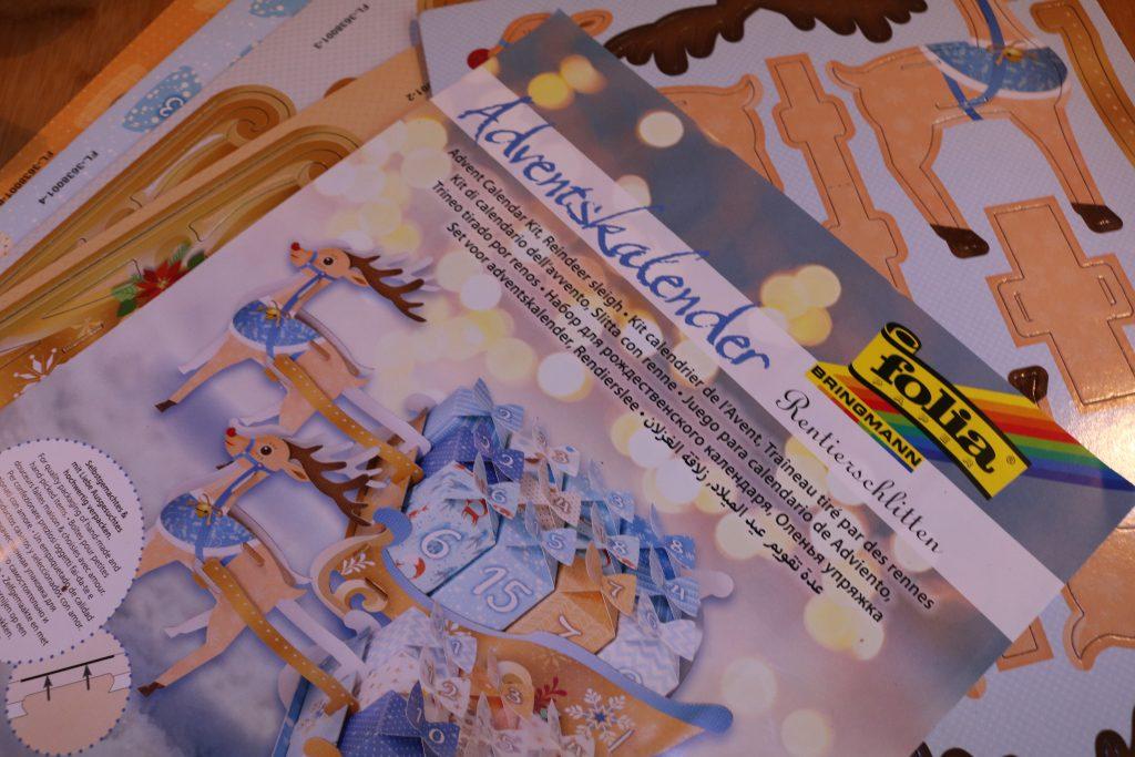 Folia-Adventskalender-Rentierschlitten-1